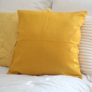 Other - Canvas Pillowcase in Yellow